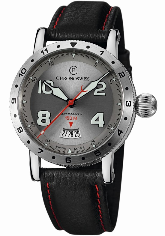 Chronoswiss Timemaster 150 Automatic - CH-2733-WH (Stainless Steel Model with Galvanic Silver Dial)