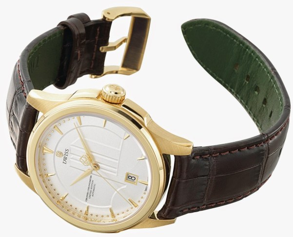 Dwiss Brasilia Limited Edition watch in gold