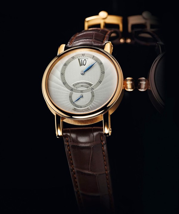 Chronoswiss Sirius Artist Régulateur Jumping Hour Automatic watch CH-8321RE-WH (Red Gold Model with White Enamel Dial)