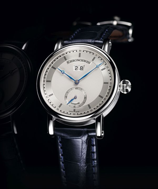 Chronoswiss Sirius Big Date Small Seconds automatic watch in stainless steel