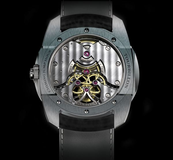 AkriviA Tourbillon Chiming Jump Hour caseback view