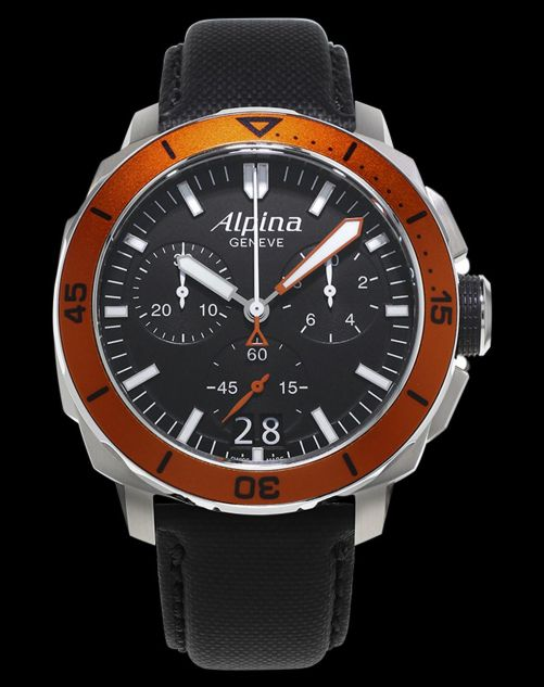 Alpina Seastrong Diver 300 Chronograph Big Date Reference: AL-372LBO4V6