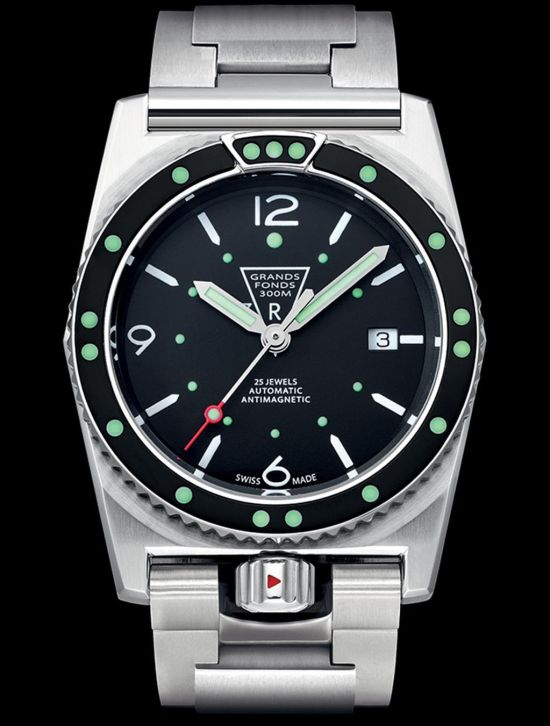 ZRC Grands Fonds 300 diving watch re-edition automatic swiss made