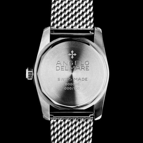 Angelo Del Mare Royal Master diving watch caseback