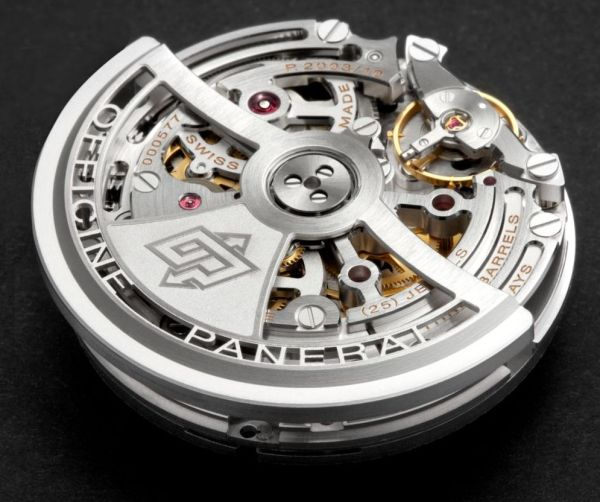 Panerai P.2003/10 calibre Skeleton automatic mechanical movement