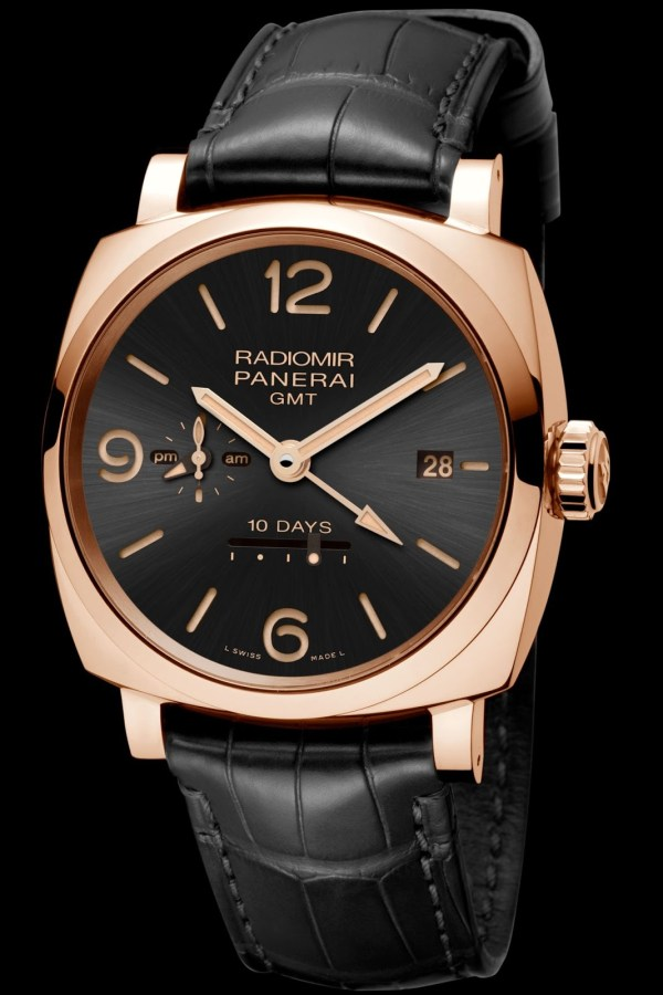 Panerai Radiomir 1940 10 Days GMT Automatic Oro Rosso, 45mm Black Dial(PAM00625)