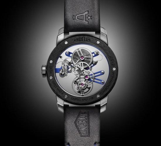 ANGELUS U20 Ultra-Skeleton Tourbillon watch caseback view