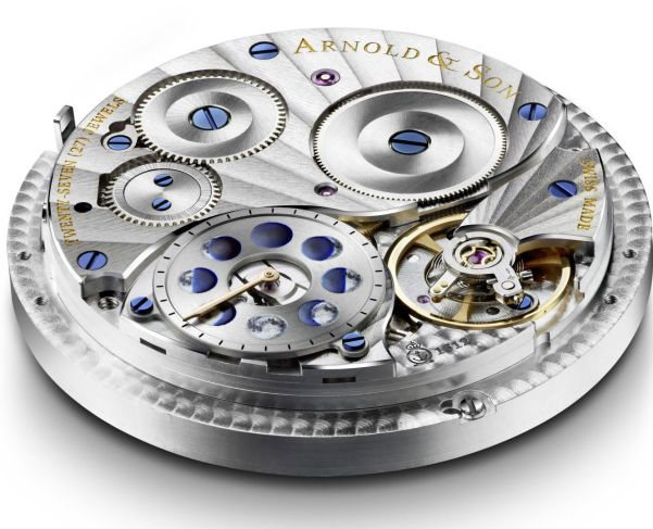 Arnold and Son Calibre A&S1512 movement of HM Double Hemisphere Perpetual Moon watch