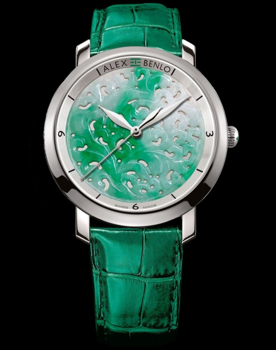 Alex Benlo Marbled Jade, Limited Edition of 388 pieces, Swiss Made watch