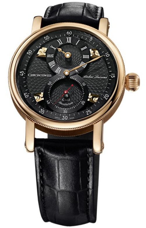 Chronoswiss Sirius Flying Regulator CH-1241.3R-BKBK 18 ct. red gold case and galvanic black dial