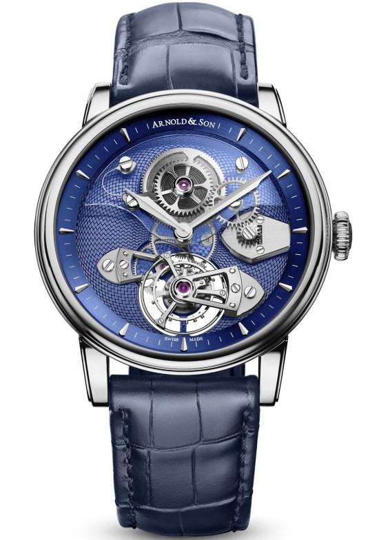 Arnold and Son TES Blue Tourbillon watch in 18-karat white gold
