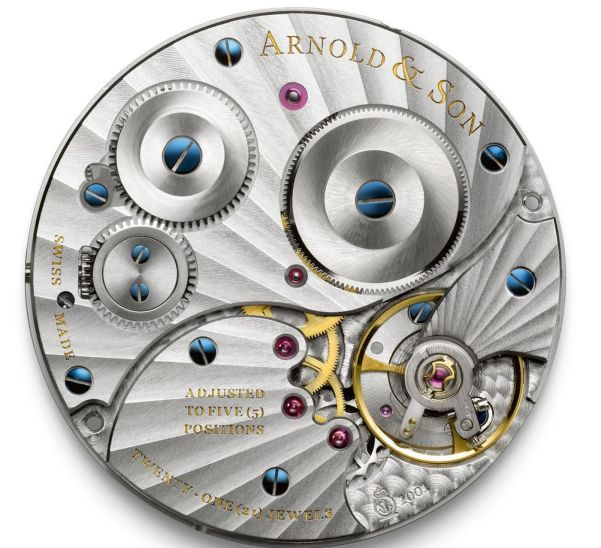 Arnold and Son Calibre A&S 1001 hand-wound movement