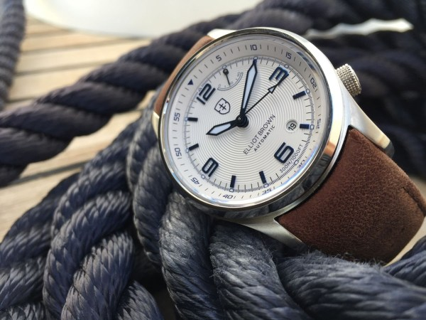 Elliot Brown Tyneham Automatic watch with white dial