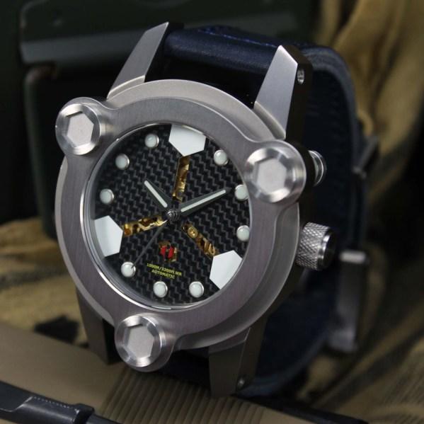 DELTAt NBS diving watch with carbon fibre dial