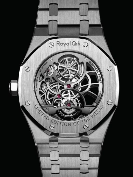 Audemars Piguet Royal Oak Tourbillon Extra-Thin Open Worked stainless steel watch