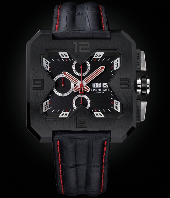 GVCHIANI GENÈVE BIG SQUARE automatic chronograph
