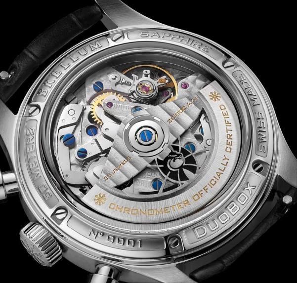 BRELLUM Duobox Chronometer watch case back view