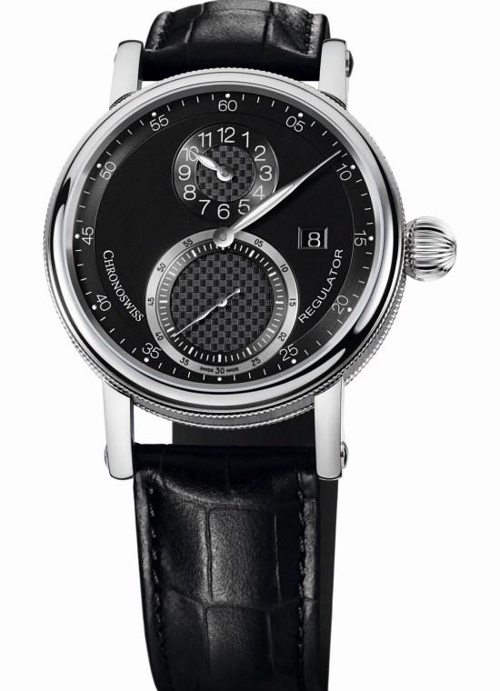 Chronoswiss Sirius Regulator Classic Date Automatic watch CH-8733-BK Stainless steel case galvanic black dial