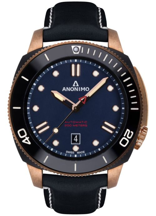 ANONIMO NAUTILO Bronze & DLC watch
