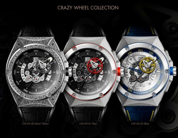 Franck Dubarry Crazy Wheel watch collection