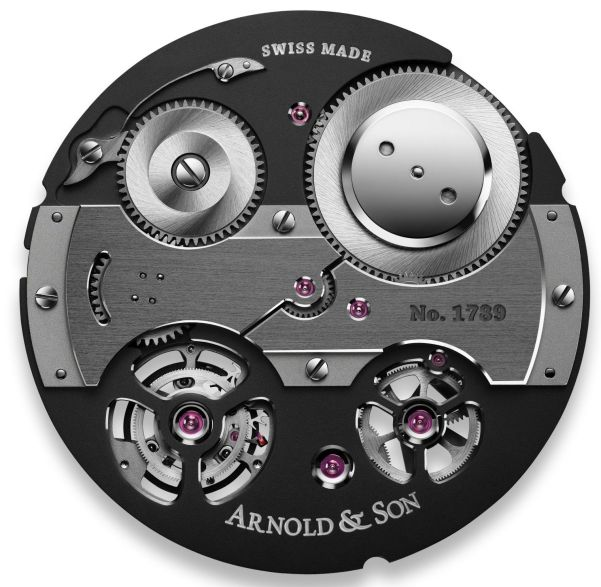 Arnold and Son A&S8600 manufacture hand-wound tourbillon movement
