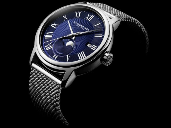 a4068541677 The new maestro Moon Phase is powered by a Swiss automatic winding  mechanical movement  the RW4280 and is presented in a sleek 40mm diameter  steel case for ...