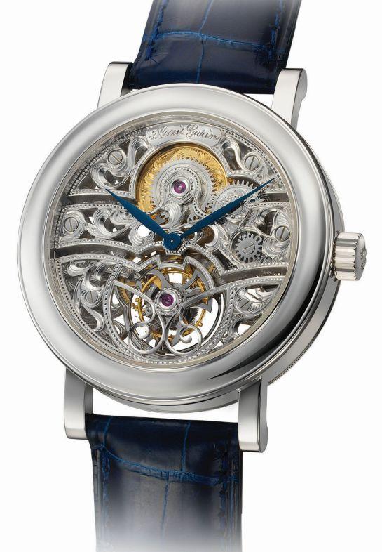 ALEXIS GARIN Tourbillon squelette watch