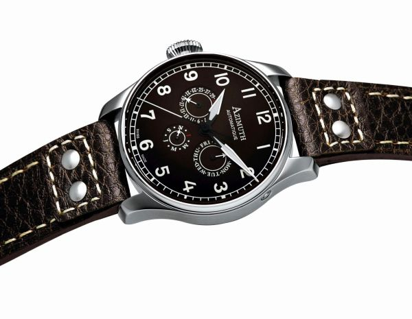 Azimuth Round-1 Calendrier Lefty watch