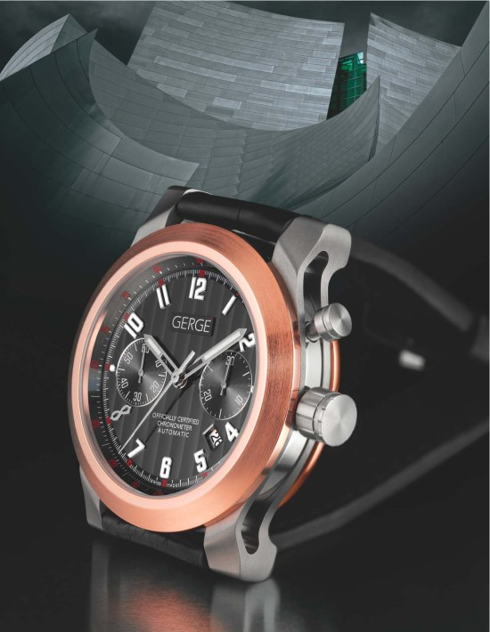 Gergé Swiss Timepieces - Metropolis Type-M3, Mono-Pusher Chronograph, COSC