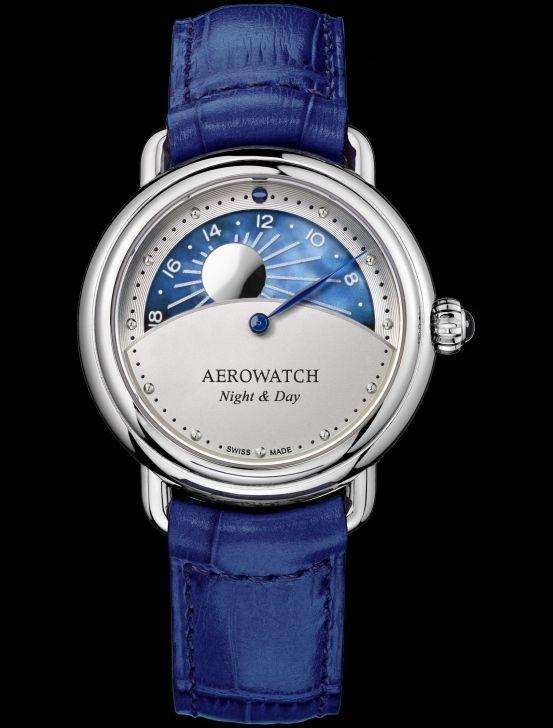 "Aerowatch 1942 ""Night & Day"" Ladies Watch Ref. A 44960 AA10"