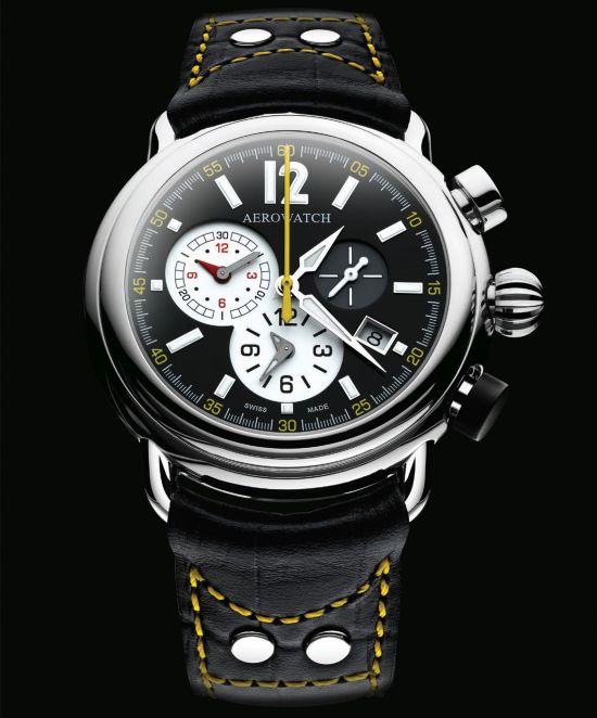 Aerowatch Hommage 1910 Chrono-Alarm Ref. A 85939 AA02 quartz watch