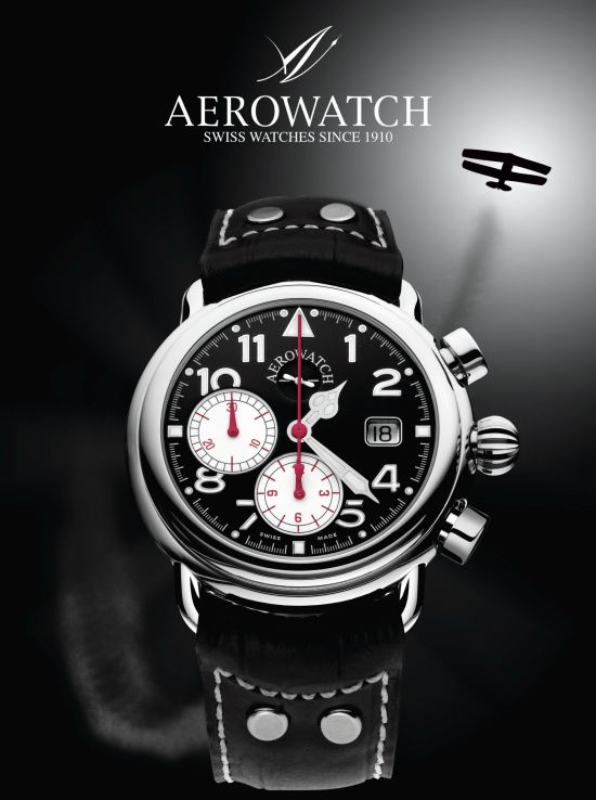 Aerowatch Hommage 1910 Chrono Auto Limited Edition Ref. A 73946 TI01