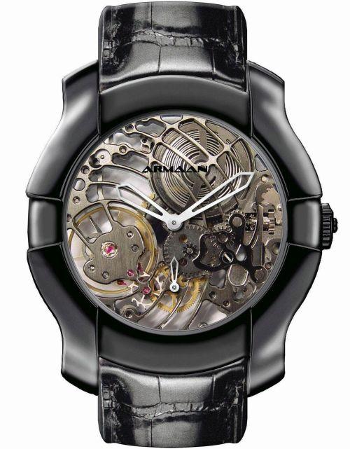 Armaan Swiss Diamond Black DLC Big Boy watch