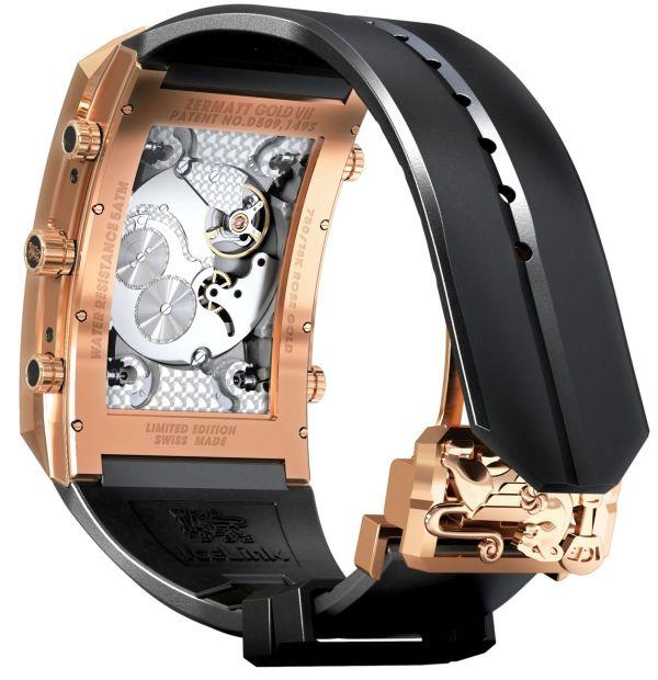 """Icelink """"Zermatt Gold VII"""" Limited Edition watch movement view"""