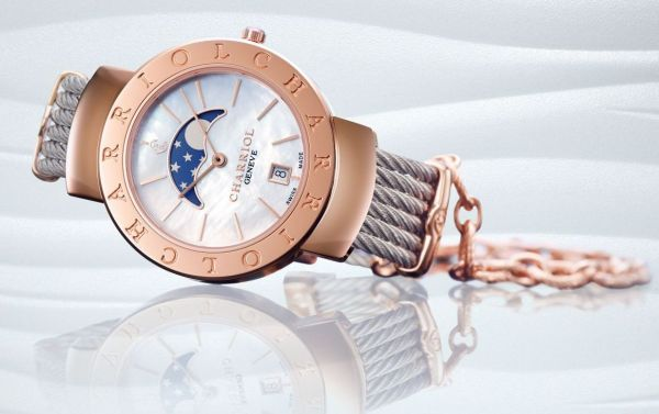 CHARRIOL ST-TROPEZ™ 35mm watch with moonphase