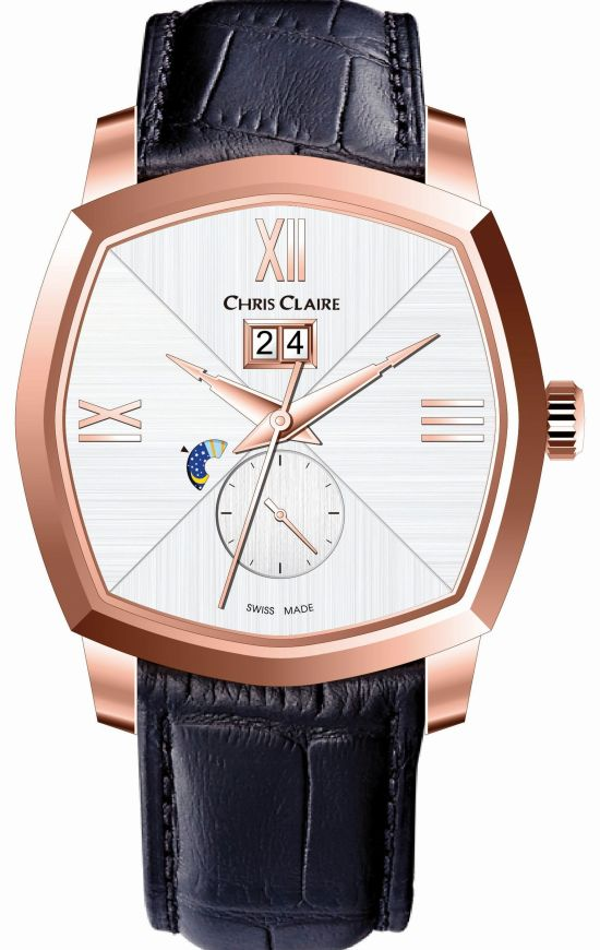 Chris Claire Big Date Dual Time Watch