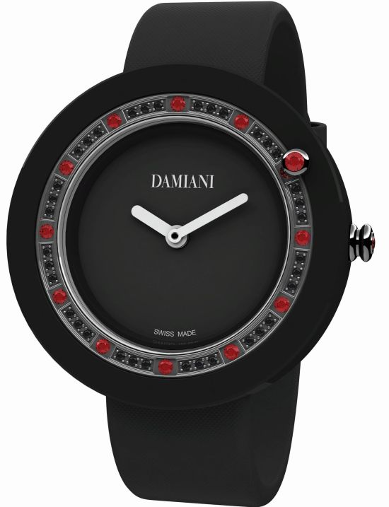 Damiani Belle Époque Black Ceramic and Rubies watch