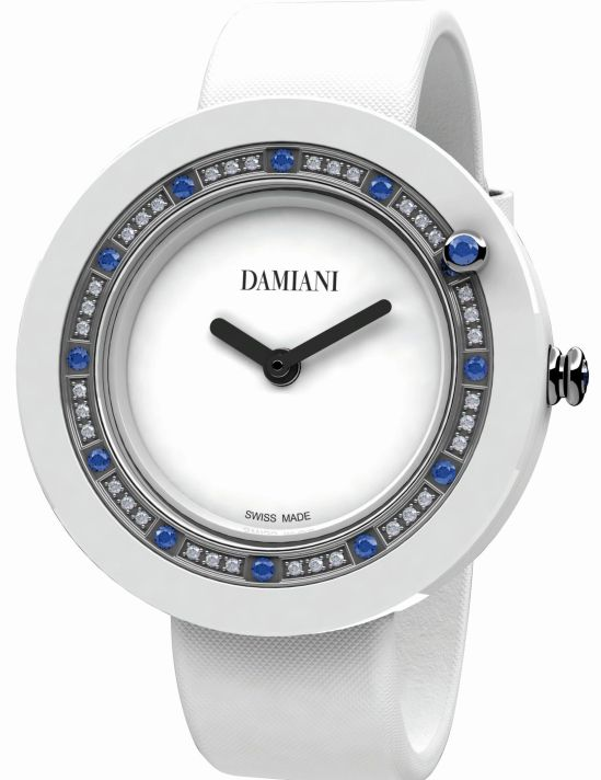 Damiani Belle Époque White Ceramic and Sapphires watch