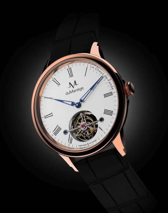 du Manège DM-Heritage Tourbillon watch with gold case