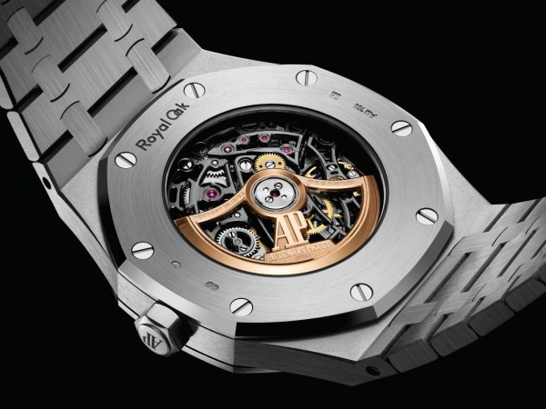 Audemars Piguet Royal Oak Frosted Gold Double Balance Wheel Open-worked 41mm with Anthracite Open-worked Dial