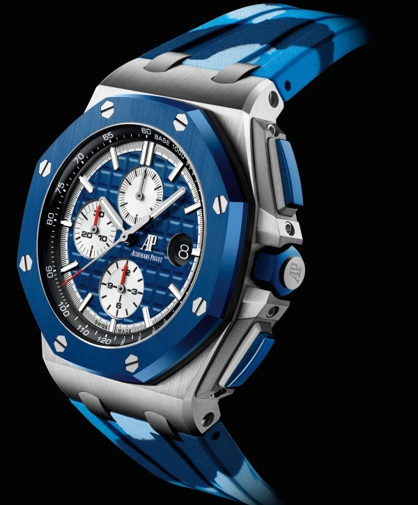 Audemars Piguet Royal Oak Offshore Self-winding Chronograph 44mm Stainless steel model with blue ceramic bezel and Blue dial