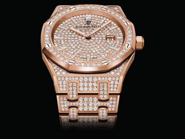 Audemars Piguet Royal Oak Quartz 33mm, Diamond-set Pink Gold Model