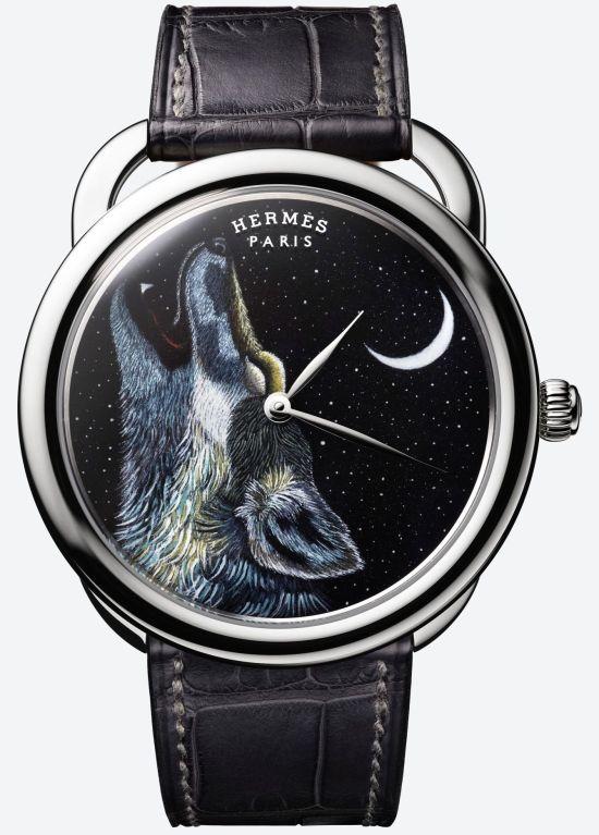 Hermès ARCEAU Awooooo automatic watch white gold case