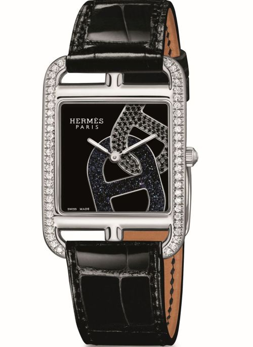 Hermès CAPE COD Chaîne d'ancre watch with Black lacquered dial