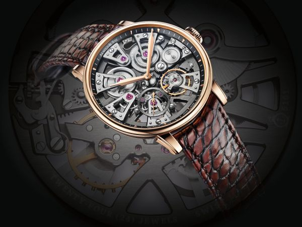 Arnold and Son Nebula 38mm watch in 18k red gold