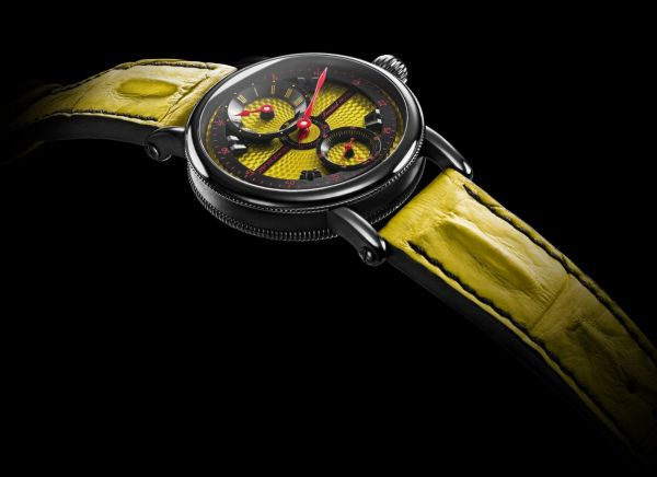 Chronoswiss Flying Grand Regulator watch New Model 2019 CH-6725-YEBK Stainless steel case with DLC coating, yellow dial