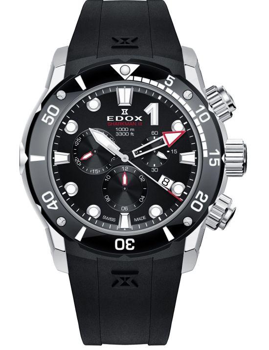 Edox Sharkman III, Reference 10241 TIV BUIN
