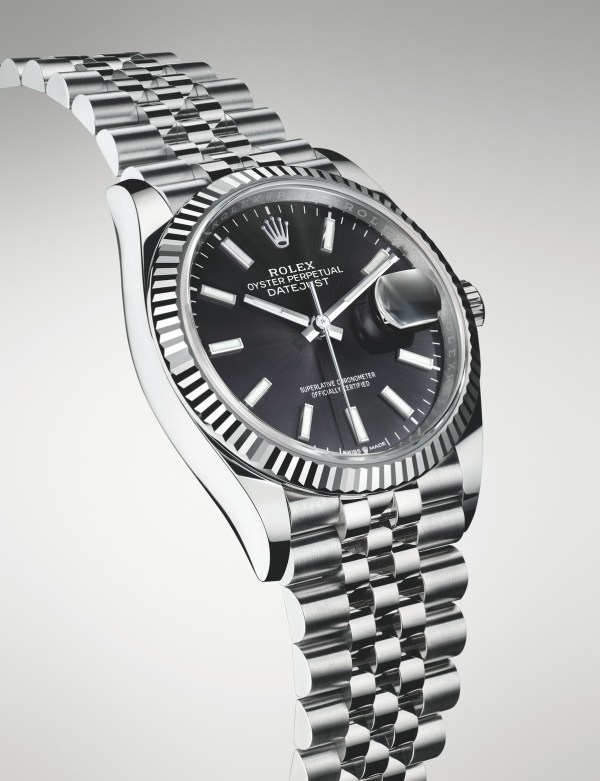 Rolex Oyster Perpetual Datejust 36, White Rolesor Version with Black Dial