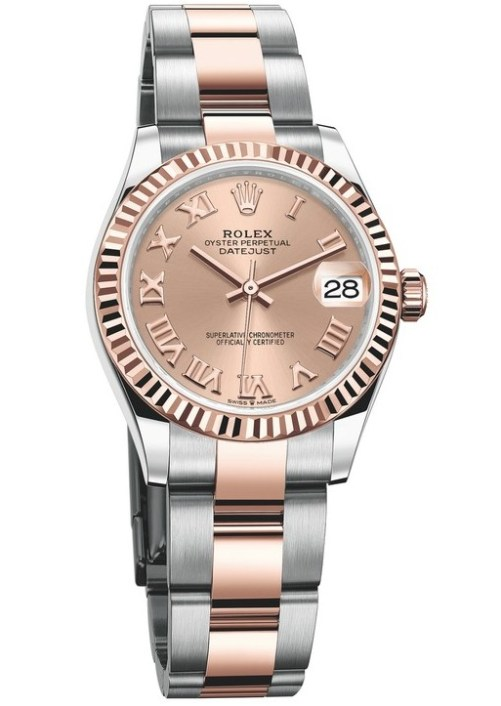 Rolex Oyster Perpetual Datejust 31, Everose Rolesor Version with Rosé-colour dial