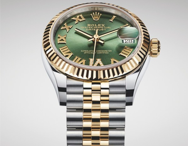 Rolex Oyster Perpetual Datejust 31, Yellow Rolesor Version with Olive green dial